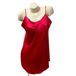 Victoria's Secret 100% Silk Slip, Lingerie RED L